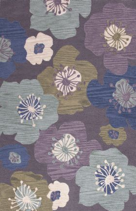 Jaipur Floral Rugs Brio Purple 14571