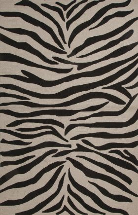 Jaipur Animal Print Rugs Coastal I-O Black 14624