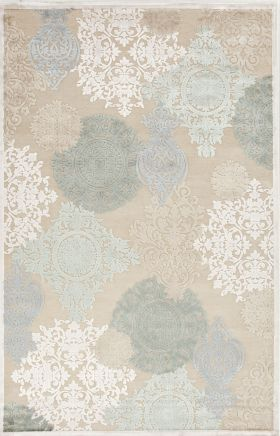 Jaipur Floral Rugs Fables Ivory 14750