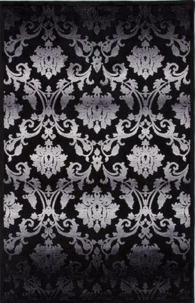 Jaipur Floral Rugs Fables Black 14751
