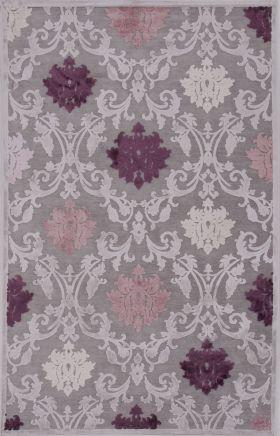 Jaipur Floral Rugs Fables Purple 14752