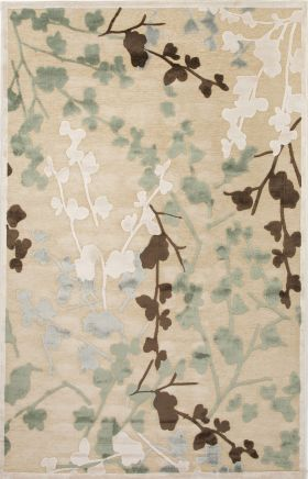 Jaipur Floral Rugs Fables Ivory 14760