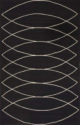 Jaipur Transitional Rugs Grant I-O Black 14829