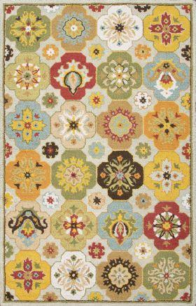 Jaipur Floral Rugs Hacienda Multicolor 14837