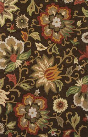 Jaipur Floral Rugs Hacienda Red 14843