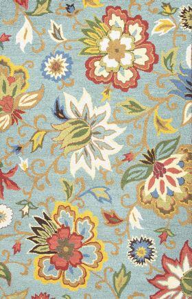 Jaipur Floral Rugs Hacienda Multicolor 14845