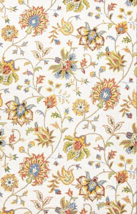 Jaipur Floral Rugs Hacienda Multicolor 14849