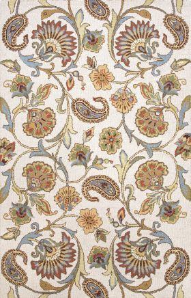 Jaipur Floral Rugs Hacienda Ivory 14850