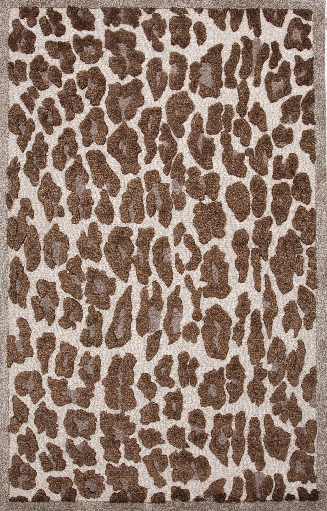 Animal Print Jaipur Rugs Midtown Raymond Brown Wool 14961