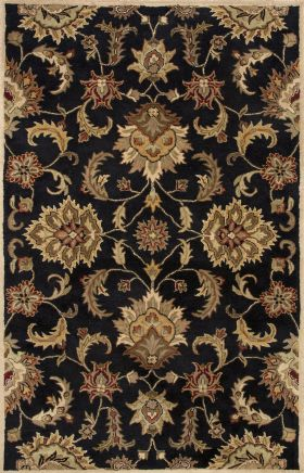 Oriental Jaipur Rugs Mythos Black Wool 15089