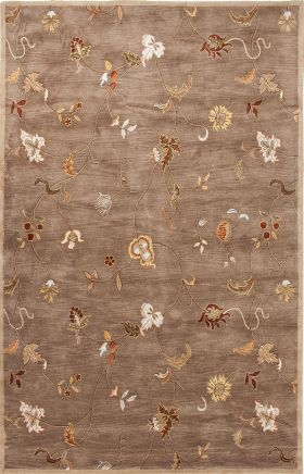Jaipur Floral Rugs Poeme Beige 15138
