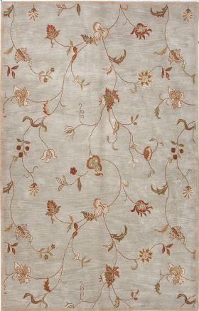 Jaipur Floral Rugs Poeme Blue 15161