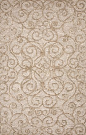 Jaipur Transitional Rugs Roccoco Ivory 15215