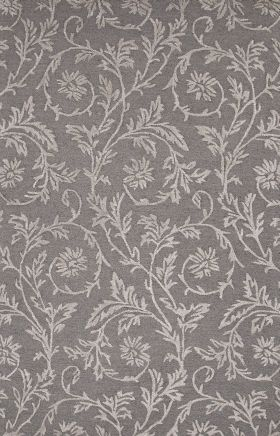 Jaipur Floral Rugs Roccoco Gray 15216