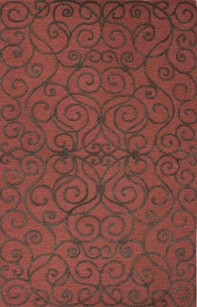 Jaipur Transitional Rugs Roccoco Red 15220