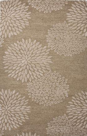 Jaipur Floral Rugs Traverse Beige 15254