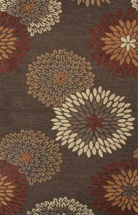 Jaipur Floral Rugs Traverse Red 15259