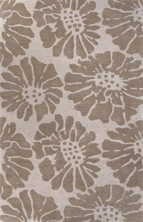 Jaipur Floral Rugs Traverse Gray 15270