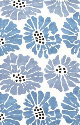 Jaipur Floral Rugs Traverse Blue 15272