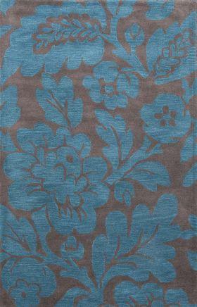 Jaipur Floral Rugs Traverse Gray 15279