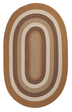 Colonial Mills Braided Rugs Brooklyn Gold 15386