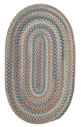 Colonial Mills Braided Rugs Cedar Cove Blue 15408