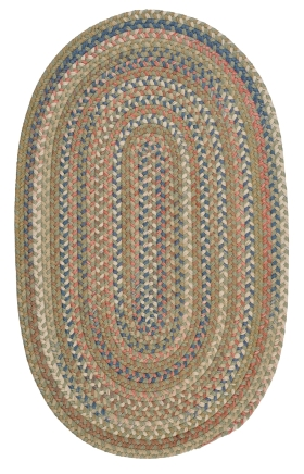 Colonial Mills Braided Rugs Cedar Cove Green 15410