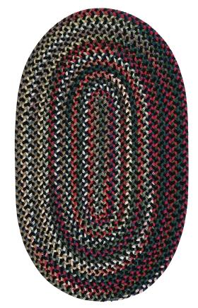 Colonial Mills Braided Rugs Chestnut Knoll Black 15414