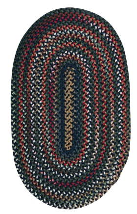 Colonial Mills Braided Rugs Chestnut Knoll Blue 15415