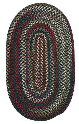 Colonial Mills Braided Rugs Chestnut Knoll Green 15416