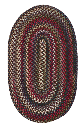 Colonial Mills Braided Rugs Chestnut Knoll Red 15417