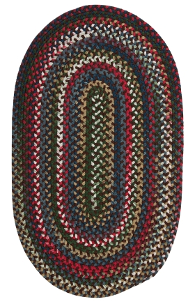 Colonial Mills Braided Rugs Chestnut Knoll Brown 15419