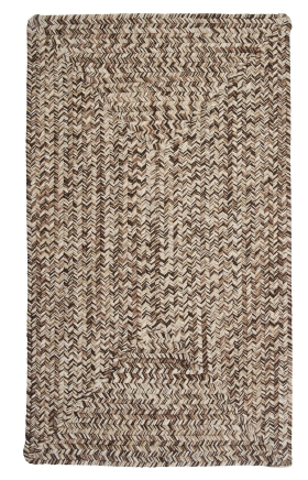 Colonial Mills Braided Rugs Corsica Brown 15440