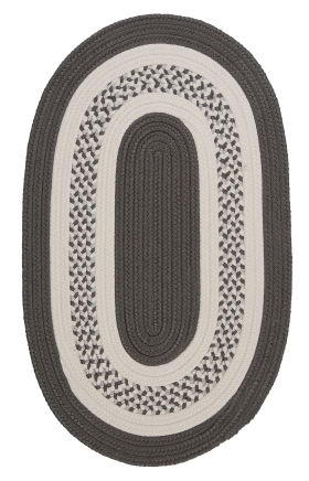 Colonial Mills Braided Rugs Crescent Gray 15441