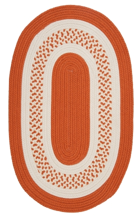 Colonial Mills Braided Rugs Crescent Orange 15442