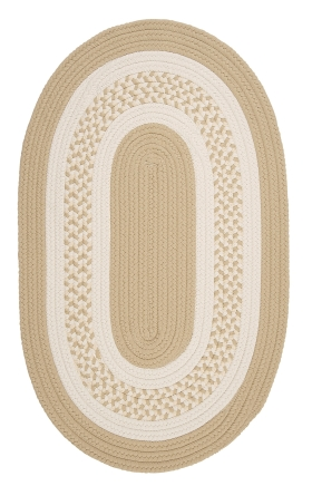 Colonial Mills Braided Rugs Crescent Cream 15448