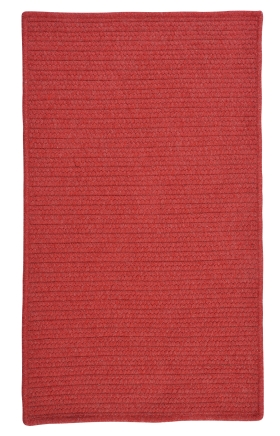 Colonial Mills Braided Rugs Courtyard Red 15450