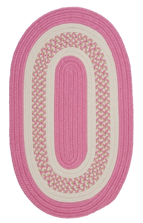 Colonial Mills Braided Rugs Flowers Bay Pink 15473