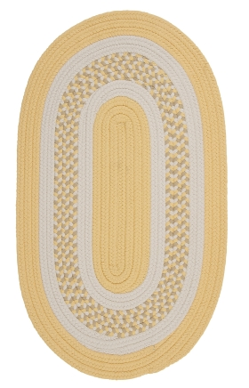 Colonial Mills Braided Rugs Flowers Bay Yellow 15474