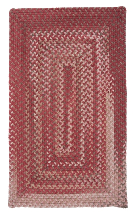 Colonial Mills Braided Rugs Gloucester Red 15492
