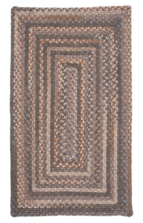 Colonial Mills Braided Rugs Gloucester Brown 15493