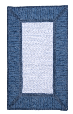 Colonial Mills Braided Rugs Gravel Bay Blue 15498
