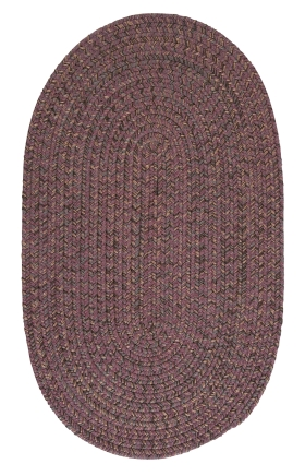 Colonial Mills Braided Rugs Hayward Purple 15501