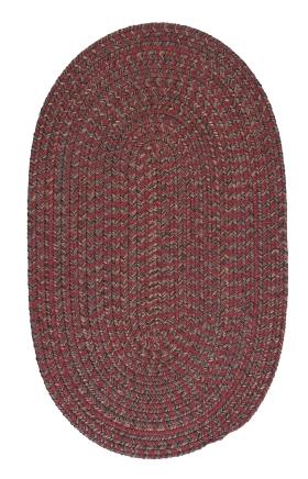 Colonial Mills Braided Rugs Hayward Red 15504