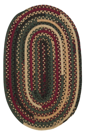 Colonial Mills Braided Rugs Market Mix Oval Multicolor 15519