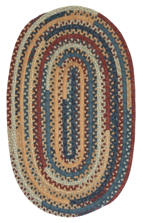 Colonial Mills Braided Rugs Market Mix Oval Multicolor 15520