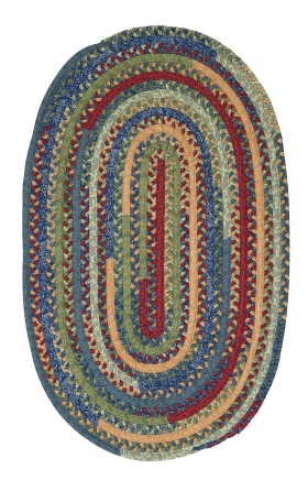 Colonial Mills Braided Rugs Market Mix Oval Multicolor 15521
