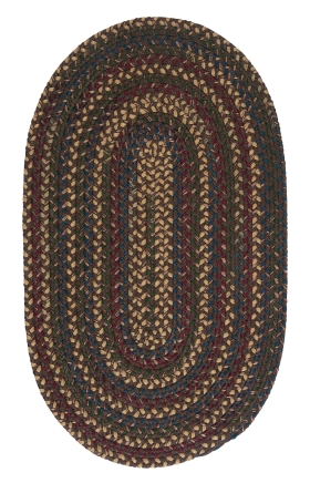 Colonial Mills Braided Rugs Midnight Brown 15523