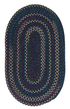 Colonial Mills Braided Rugs Midnight Blue 15525