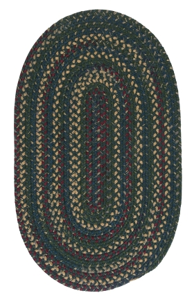 Colonial Mills Braided Rugs Midnight Green 15526